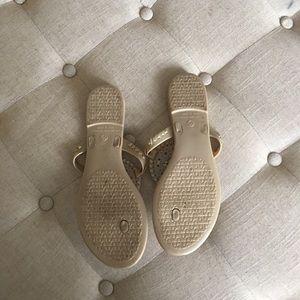 6de529e9f0745 Red Dress Boutique Shoes - Gold Jelly Sandal Flip Flops